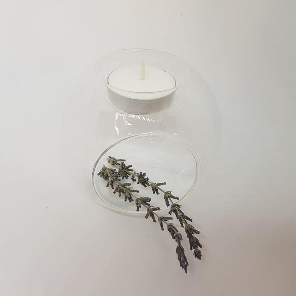 מבער שמנים עשוי מזכוכית