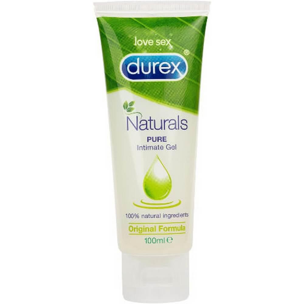 """ג'ל סיכוך אינטימי durex Naturals Pure מקל על יובש בנרתיק , 100 מ""""ל"""